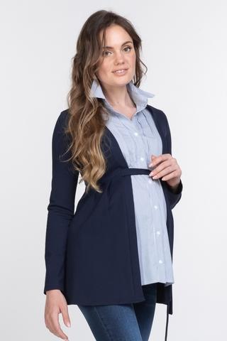 Блузка для беременных 11391 синий