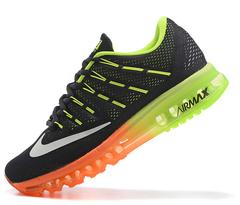 Кроссовки Мужские Nike Air Max 2016 Dk Grey Orange Green