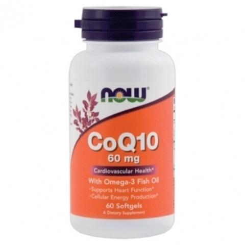 NOW Co Q-10 with Omega-3 Fish Oil, 120 капс.