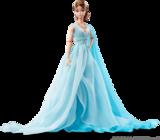 Blue Chiffon Ball Gown Barbie Doll