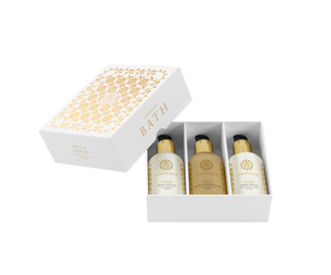 Amouage Gold woman набор (лосьон д/тела 100мл + крем д/рук 100мл + гель д/душа 100мл)