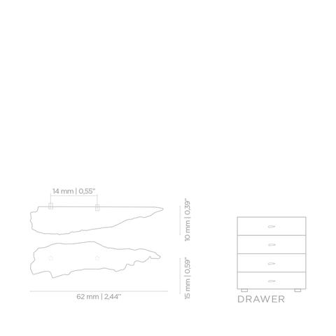 Мебельная ручка PullCast KESYA EA1001