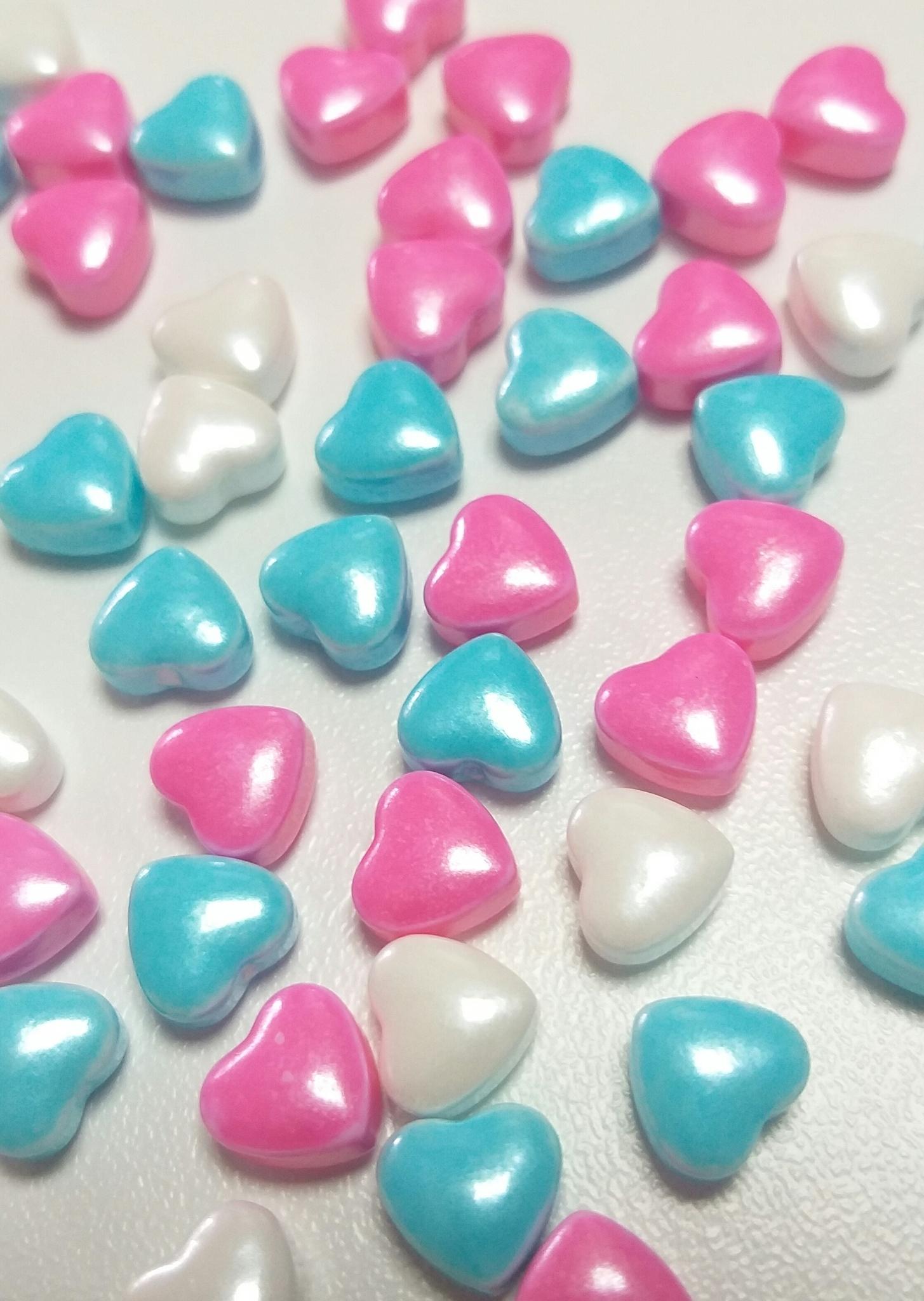 Посыпка кондитерская  «Сердца бело-розово-голубые», 20г