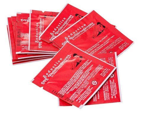 Набор из 10 пробников возбуждающего интимного крема для мужчин и женщин Seduction