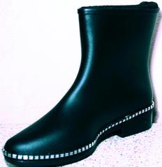 Сапоги резиновые для города женские Hello Rain Story 1019 Black