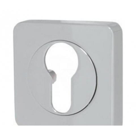 Фурнитура - Накладка На Цилиндр квадратная TIXX КВ ET 05, цвет никель матовый/никель блестящий