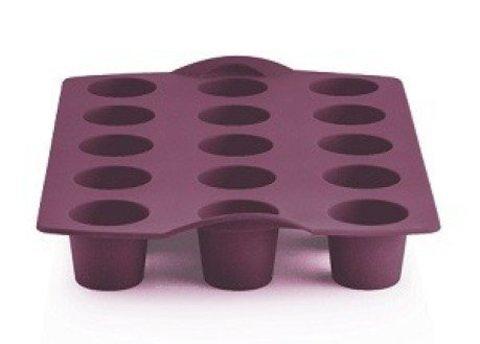 Силиконовая форма для мини-кексов фиолетовая