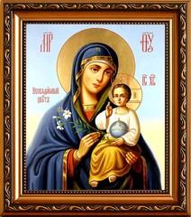 Неувядаемый цвет. Икона Божьей матери на холсте.