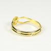 Основа для кольца с круглой площадкой 6 мм (цвет - золото)