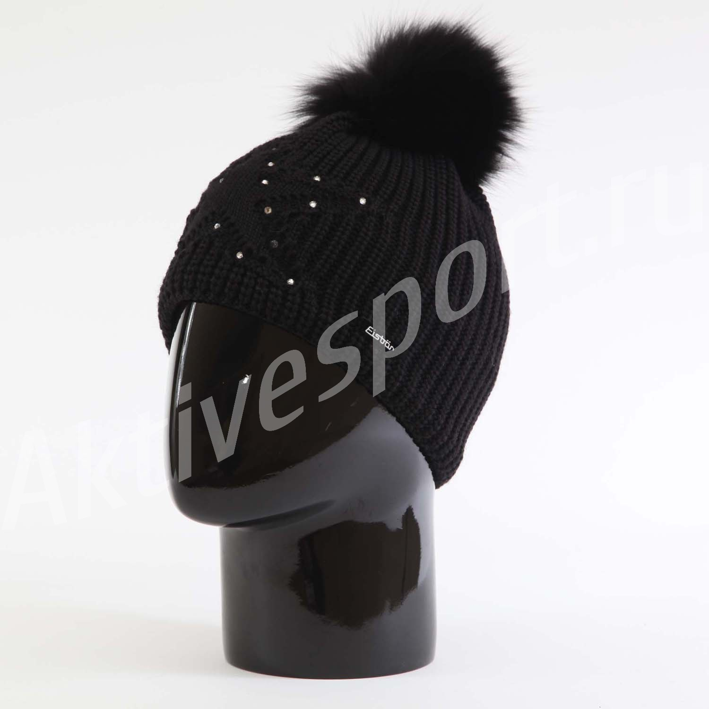 Женские шапки Шапка с помпоном Eisbar Chantal Fur Crystal 009 IMG_0896.jpg