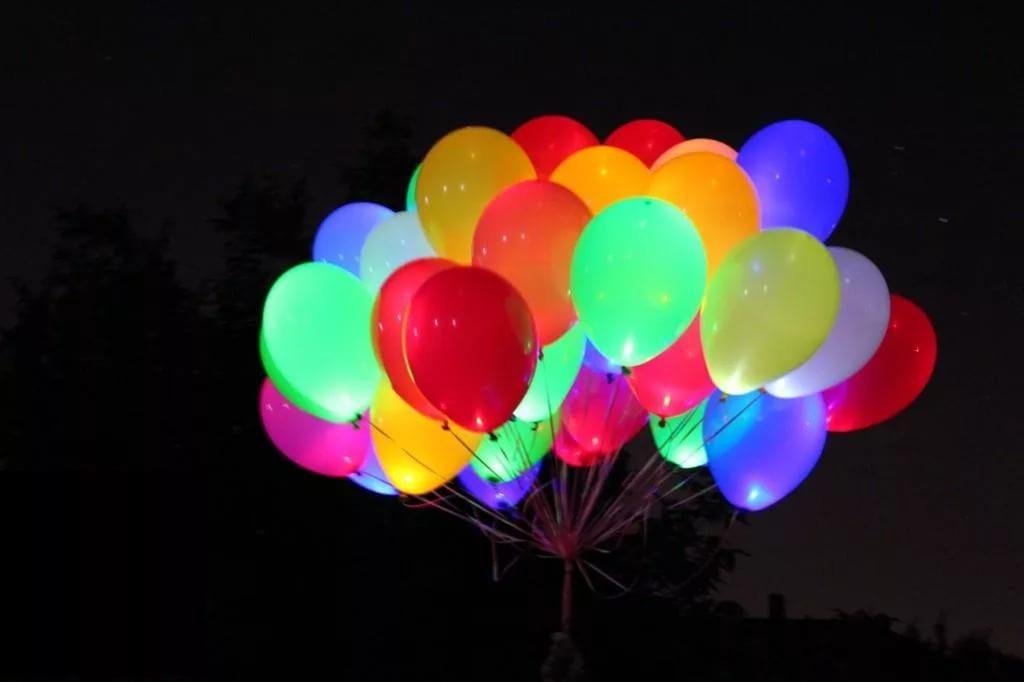 Светящиеся шары с гелием (фото 2)
