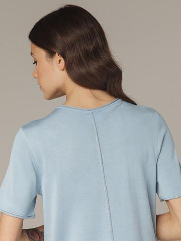 Light blue female jumper made of silk and viscose - фото 4