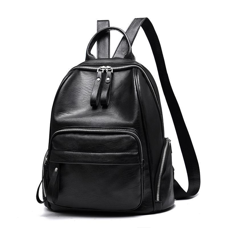 Женский большой рюкзак 32х37х16 см чёрный 9240-1