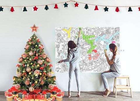 Гигантская новогодняя раскраска «Зима», формат А1