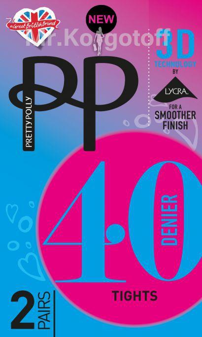 Колготки Pretty Polly Opaque 3D 40 (2 пары, ETG4)