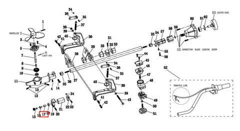 Подшипник 8*14*15 для лодочного мотора T2 SEA-PRO