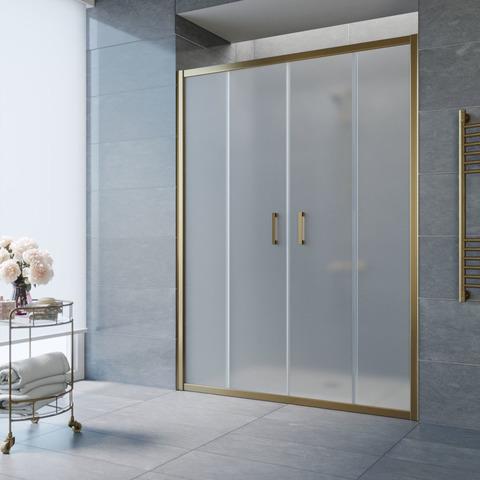 Душевая дверь в нишу Vegas Glass Z2P профиль бронза, стекло сатин