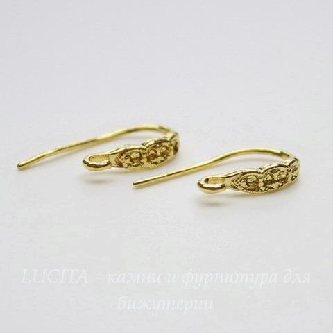 Швензы - крючки 16х9 мм (цвет - золото)