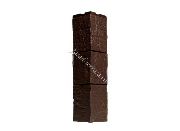 Угол Wandstein Туф Тёмно-коричневый