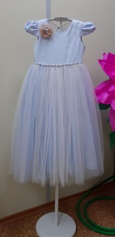 Нежное голубое платье (арт.9234)