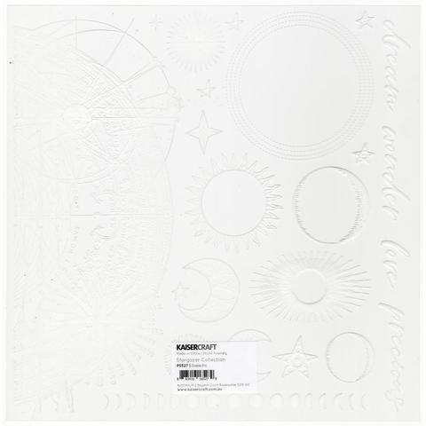 Ацетатный лист  30 х30 см - After Five Acetate - Galactic ( цвет белый)