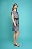Платье Арина горох+полосы