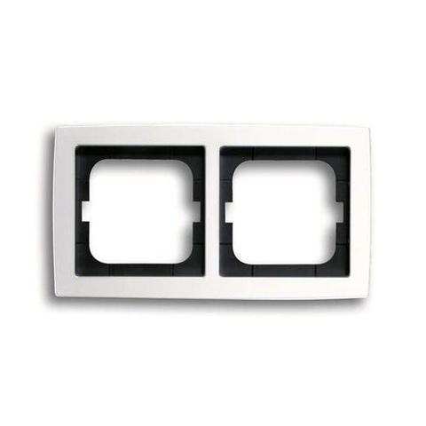 Рамка на 2 поста. Цвет Белый глянцевый. ABB(АББ). Solo(Соло). 1754-0-4539