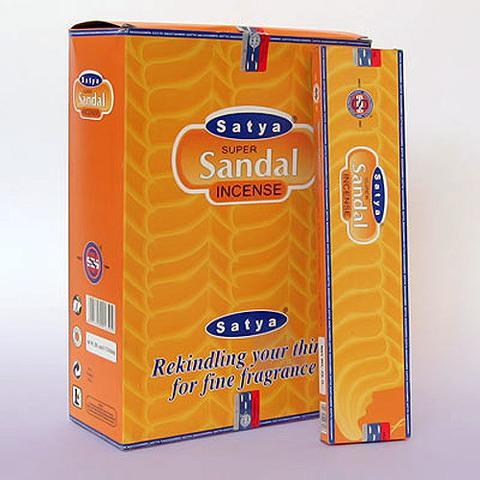 Благовония Satya SUPER SANDAL 25gm Белый и Красный Сандал