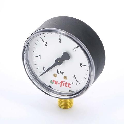 Манометр давления Uni-fitt 6 бар радиальный