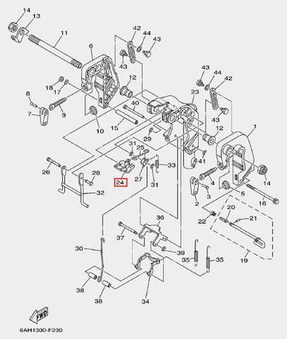 Замок наклона для лодочного мотора F20 Sea-PRO (19-24)