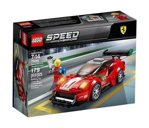 LEGO Speed Champions: Феррари 488 GT3 Scuderia Corsa 75886 — Ferrari 488 GT3 Scuderia Corsa  — Лего Спид чампионс Чемпионы скорости