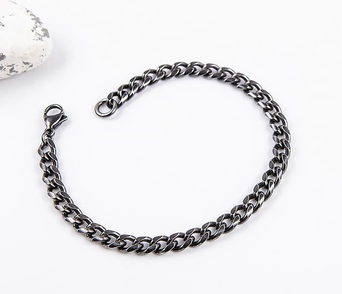 BM552 Тонкий браслет - цепочка из нержавеющей стали фото 03