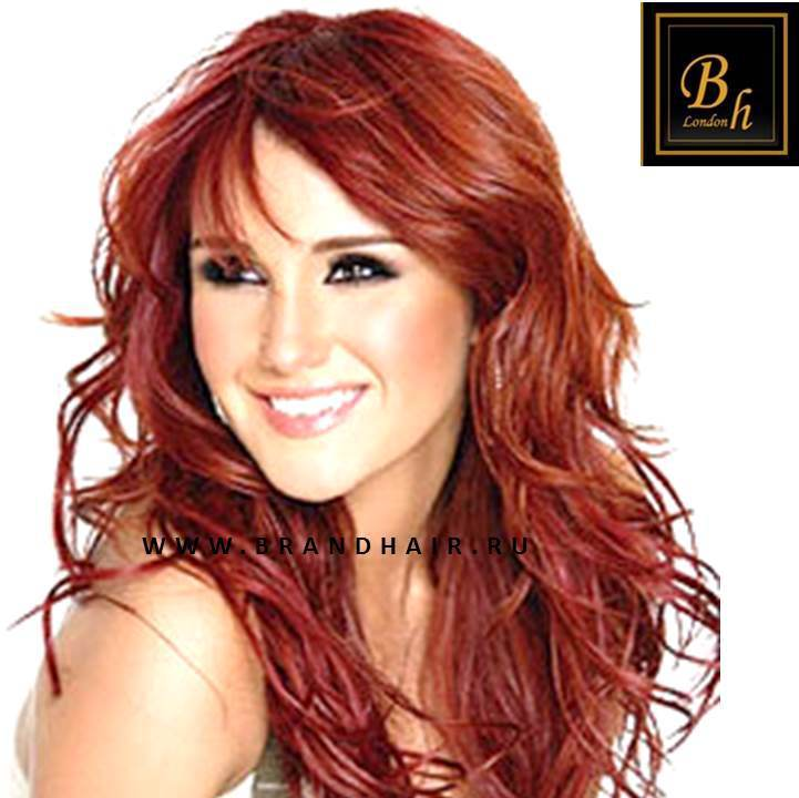 Волосы на заколкахцвет #1005-Огненно-рыжий