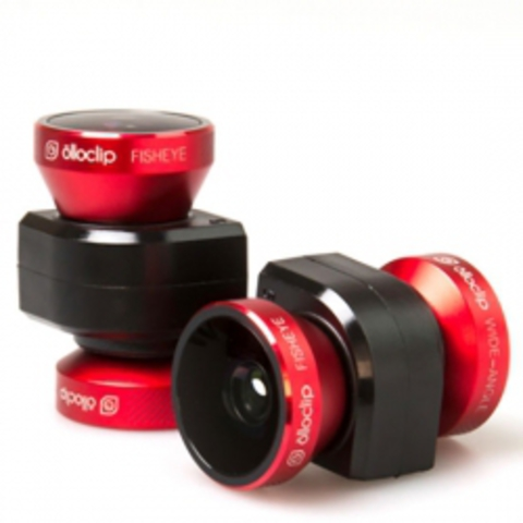 Объектив Olloclip 4-in-1 Photo Lens для iPhone 5/5S Red/Black