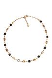 Ожерелье Arlecchino Cubo золотистое