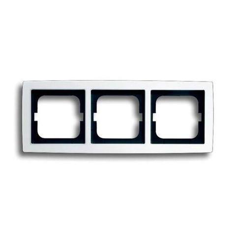 Рамка на 3 поста. Цвет Белый глянцевый. ABB(АББ). Solo(Соло). 1754-0-4541