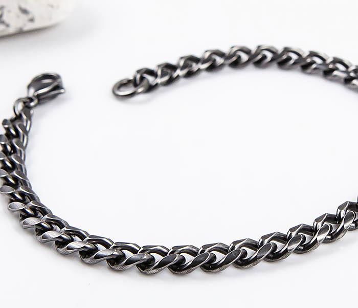 BM552 Тонкий браслет - цепочка из нержавеющей стали фото 04