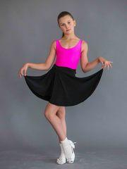 Черная юбка для танцев на завязках