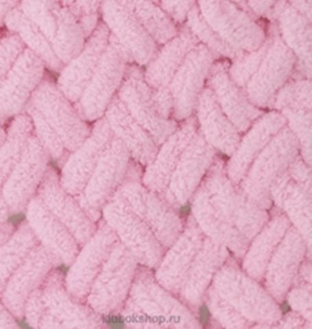 Пряжа Puffy Alize 185 Розовый - толстая бархатистая пряжа для вязания руками. Купить в интернет-магазине недорого klubokshop.ru