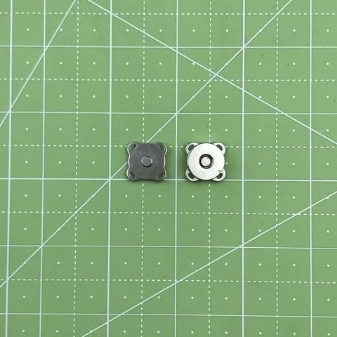 Магнитная кнопка (Серебро) пришивная