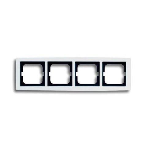 Рамка на 4 поста. Цвет Белый глянцевый. ABB(АББ). Solo(Соло). 1754-0-4112