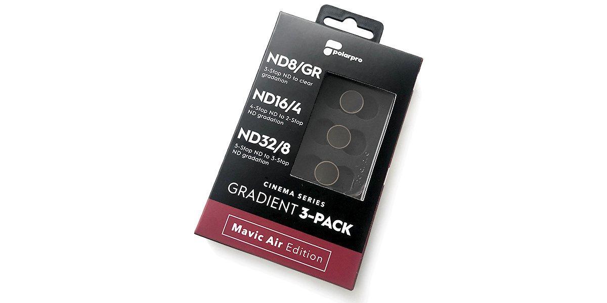 Набор фильтров PolarPro DJI Mavic Air Gradient Collection (ND8-GR, ND16-4, ND32-8) в упаковке