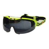 Визор лыжный Casco Spirit Neon Yellow Smoke lens