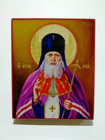 Икона Святой Лука Крымский на дереве на левкасе мастерская Иконный Дом