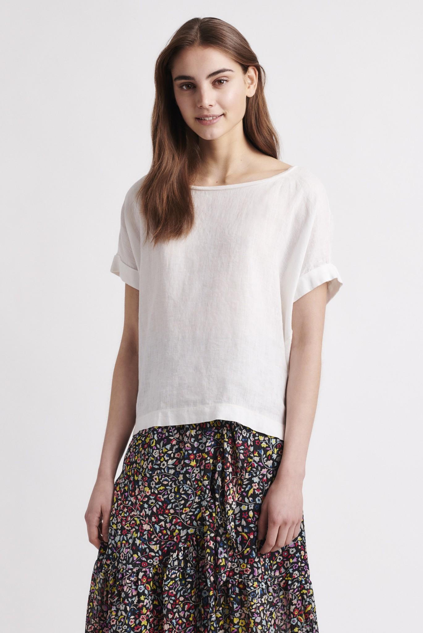 RAMIE - Свободная льняная футболка