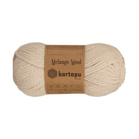 Пряжа Kartopu Melange Wool арт. 837 светло-бежевый