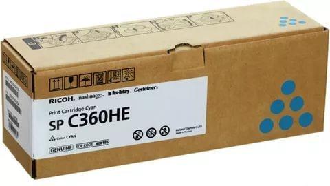 Принт-картридж Ricoh SP C360HE, голубой. Ресурс 5000 стр. (408185)