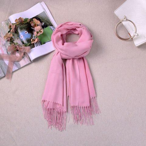 Шарф кашемировый розовый - фото