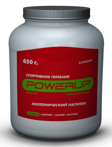 Спортивный изотонический напиток POWERUP Клубника+Кофеин