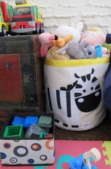 Корзина для игрушек 3 Sprouts Розовая белочка